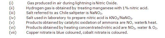 Frank Solutions Icse Class 10 Chemistry Chapter - B Nitric Acid
