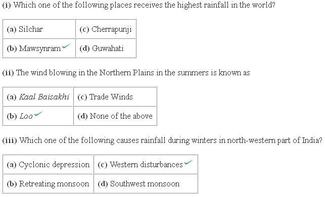Ncert Solutions Cbse Class 9 Geography Chapter - Climate