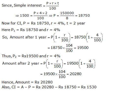 Frank Solutions Icse Class 9 Mathematics Chapter - Compound Interest