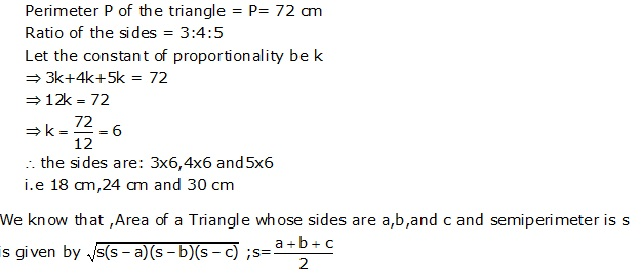 Frank Solutions Icse Class 9 Mathematics Chapter - Perimeter And Area