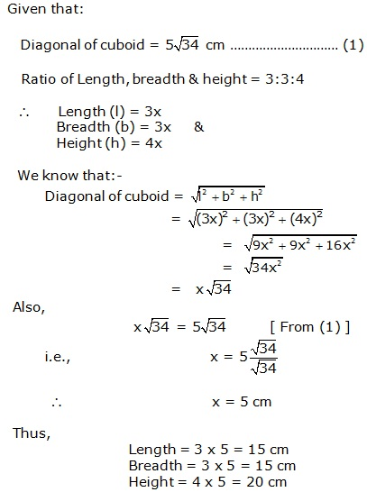 Frank Solutions Icse Class 9 Mathematics Chapter - Surface Areas And Volume Of Solids