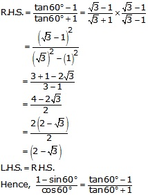 R-s-aggarwal-and-v-aggarwal Solutions Cbse Class 10 Mathematics Chapter - T Ratios Of Some Particular Angles