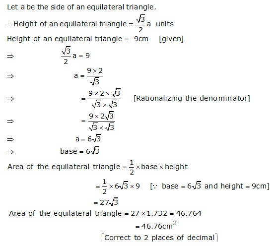 R-s-aggarwal-and-v-aggarwal Solutions Cbse Class 9 Mathematics Chapter - Areas Of Triangles And Quadrilaterals
