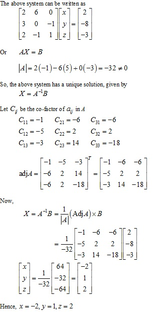Rd-sharma Solutions Cbse Class 12-science Mathematics Chapter - Solution Of Simultaneous Linear Equations