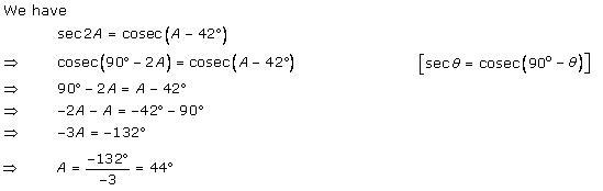 Rd-sharma Solutions Cbse Class 10 Mathematics Chapter - Trigonometric Ratios