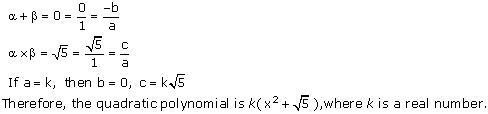 Ncert Solutions Cbse Class 10 Mathematics Chapter - Polynomials