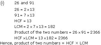 Ncert Solutions Cbse Class 10 Mathematics Chapter - Real Numbers