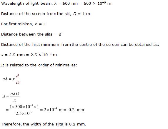 Ncert Solutions Cbse Class 12-science Physics Chapter - Wave Optics
