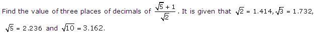 Rd-sharma Solutions Cbse Class 9 Mathematics Chapter - Rationalisation
