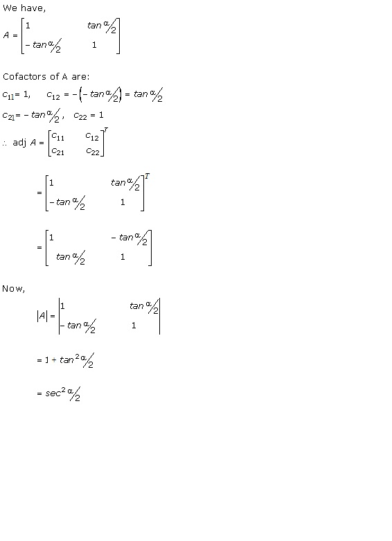 Chapter 7 Adjoint and Inverse of a Matrix - RD Sharma