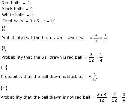 Chapter 16 Probability - RD Sharma Solutions for Class 10