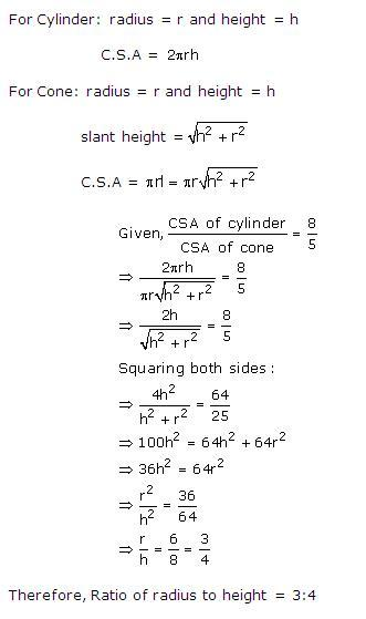 Rd-sharma Solutions Cbse Class 10 Mathematics Chapter - Surface Areas And Volumes