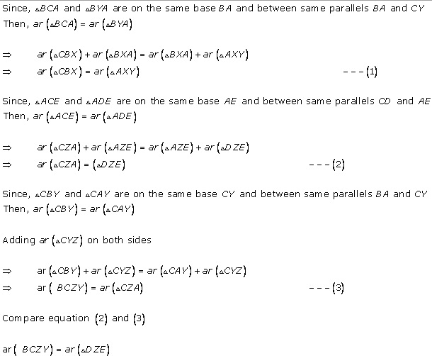Rd-sharma Solutions Cbse Class 9 Mathematics Chapter - Areas Of Parallelograms And Triangles