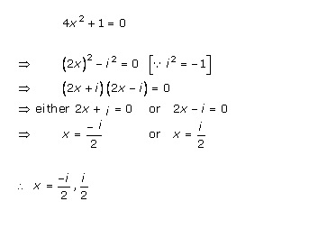 Rd-sharma Solutions Cbse Class 11-science Mathematics Chapter - Quadratic Equations