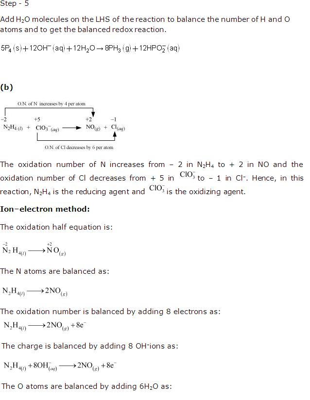 Ncert Solutions Cbse Class 11-science Chemistry Chapter - Redox Reactions
