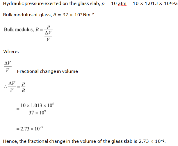 Ncert Solutions Cbse Class 11-science Physics Chapter - Mechanical Properties Of Solids