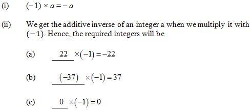 Ncert Solutions Cbse Class 7 Mathematics Chapter - Integers