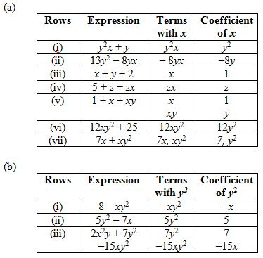 Chapter 12 Algebraic Expressions - NCERT Solutions for Class 7