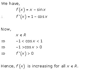 Rd-sharma Solutions Cbse Class 12-science Mathematics Chapter - Increasing And Decreasing Functions