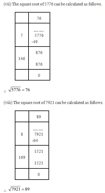 Ncert Solutions Cbse Class 8 Mathematics Chapter - Squares And Square Roots