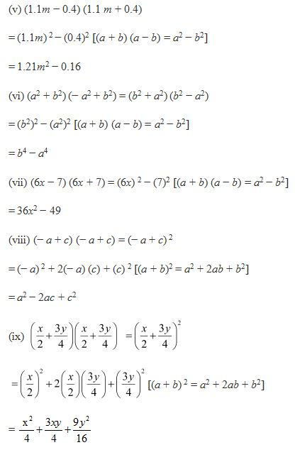 Ncert Solutions Cbse Class 8 Mathematics Chapter - Algebraic Expressions And Identities