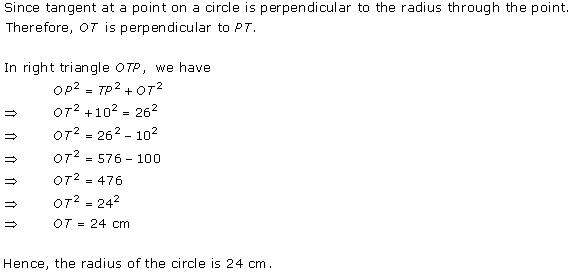 Rd-sharma Solutions Cbse Class 10 Mathematics Chapter - Circles