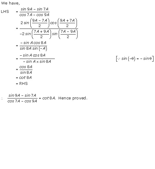 Rd-sharma Solutions Cbse Class 11-science Mathematics Chapter - Transformation Formulae