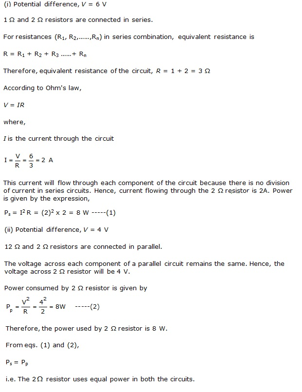 Ncert Solutions Cbse Class 10 Physics Chapter - Electricity