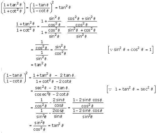 Rd-sharma Solutions Cbse Class 10 Mathematics Chapter - Trigonometric Identities