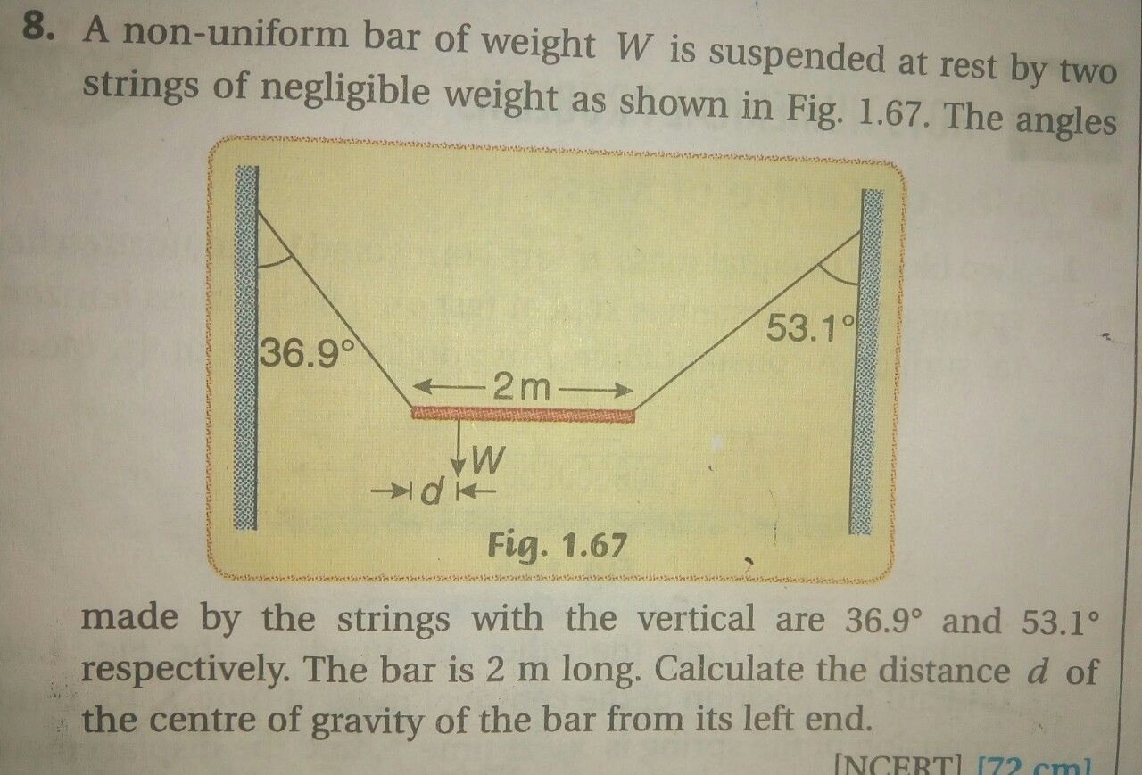 Questions and Answers of CBSE Class 11 Science Physics