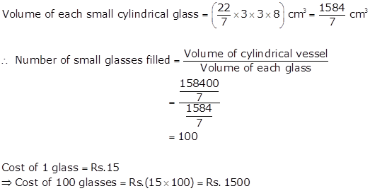 R-s-aggarwal-and-v-aggarwal Solutions Cbse Class 9 Mathematics Chapter - Volume And Surface Area Of Solids