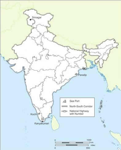 on an outline map of india locate and label the following with ...