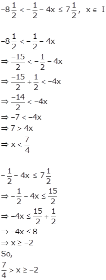 Selina Solutions Icse Class 10 Mathematics Chapter - Linear Inequations In One Variable