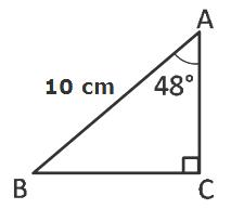how to find the hypotenuse with the area