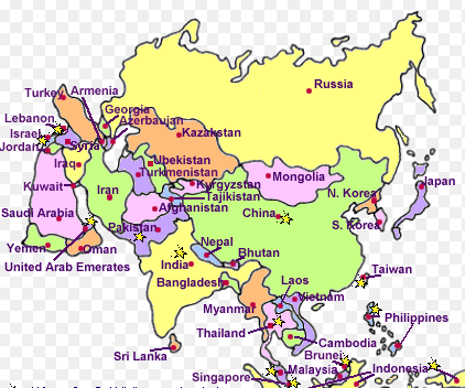 Map Of All Of Asia.Mark All The Important Rivers That Form The Plains On An Outlined