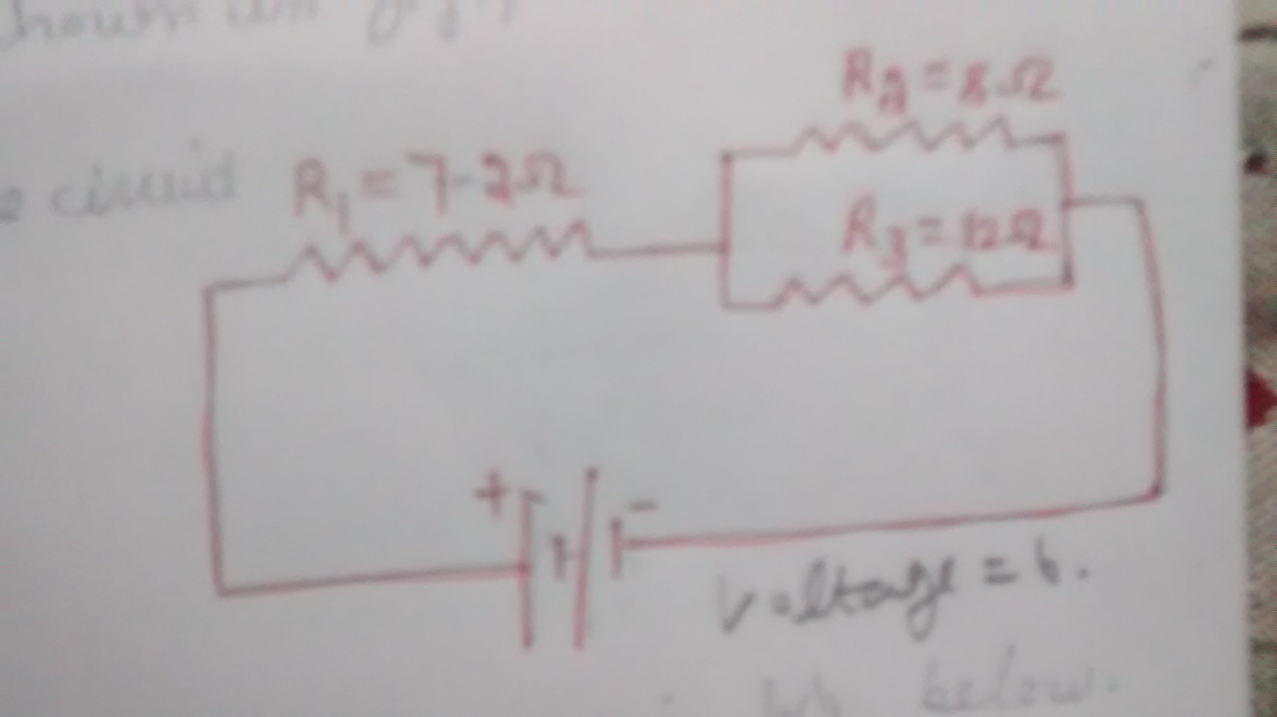 In The Circuit Diagram Shown Figure Calculate 1 Total Current Resistance A Figurecalculate Flowing Circuitiipd Across R13total Of 4pd R2 And