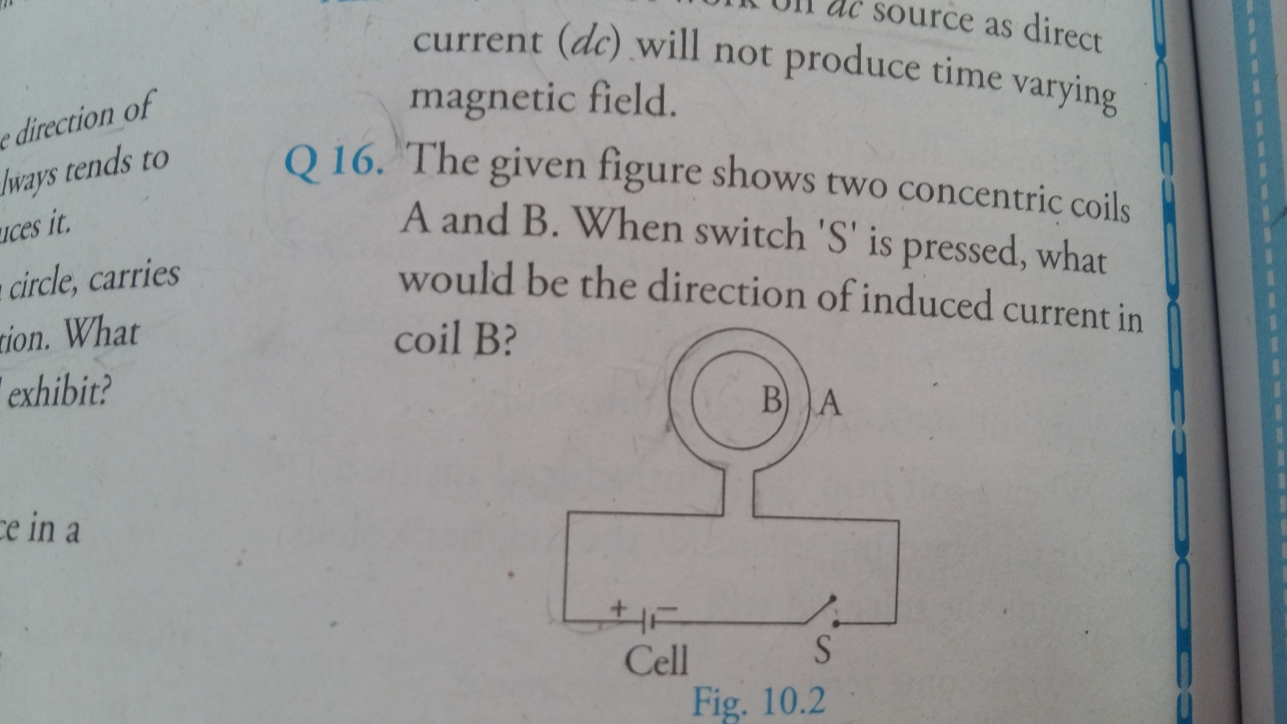 Questions and Answers of Electromagnetism Electromagnetic