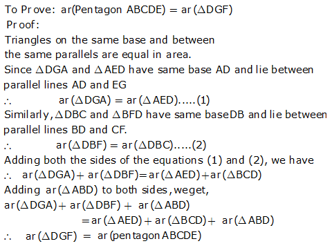 R-s-aggarwal-and-v-aggarwal Solutions Cbse Class 9 Mathematics Chapter - Areas Of Parallelograms And Triangles