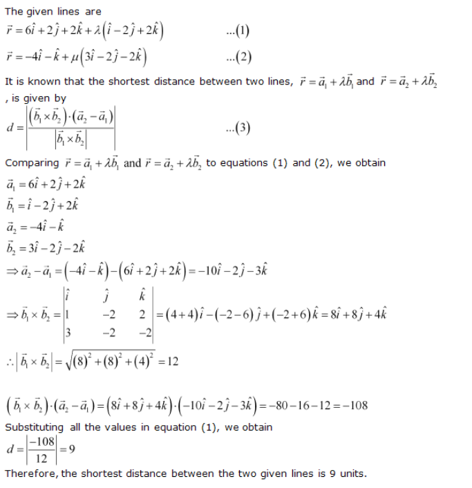 Ncert Solutions Cbse Class 12-science Mathematics Chapter - Three Dimensional Geometry