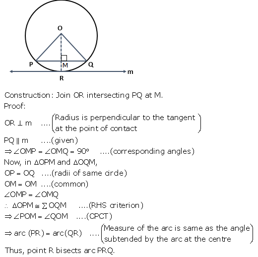 A Chord Pq Of A Circle Is Parallel To The Tangent Drawn At A Point R