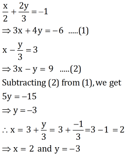 Ncert Solutions Cbse Class 10 Mathematics Chapter - Pairs Of Linear Equations In Two Variables