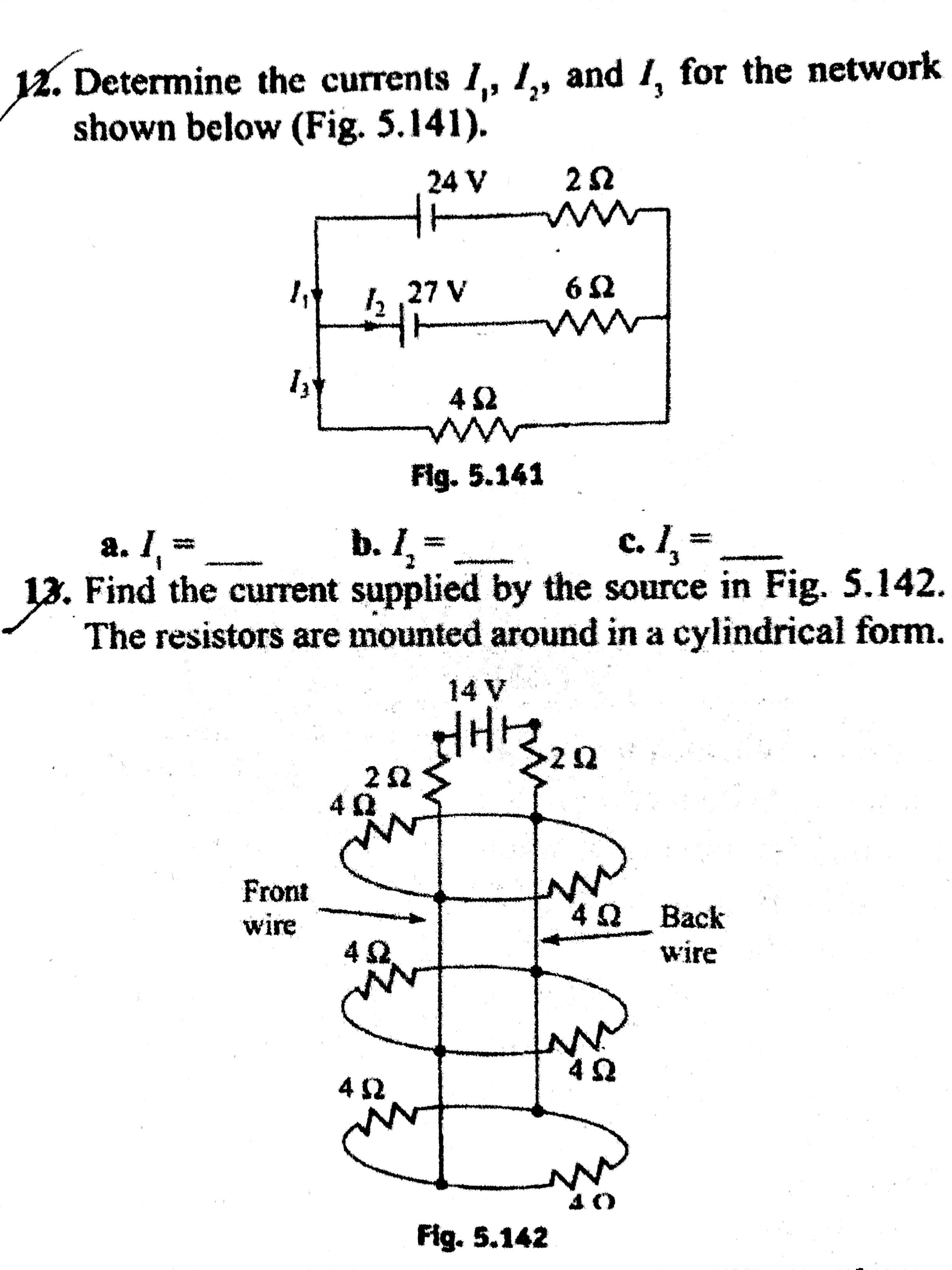 Q1 In Series Connection Why Does Current Remain Same Across The Electric Circuits Resistors And Parallel Free Physics Please Solve Them