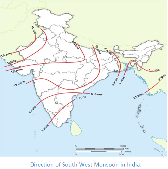 Direction Map Of India on
