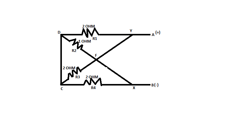 find equivalent resistance along a and b in the following circuit ...