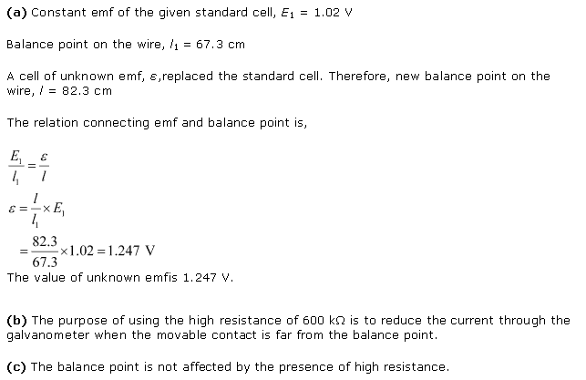 Ncert Solutions Cbse Class 12-science Physics Chapter - Current Electricity