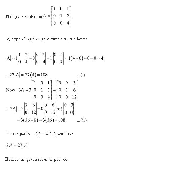 Ncert Solutions Cbse Class 12-science Mathematics Chapter - Determinants