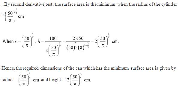 Ncert Solutions Cbse Class 12-science Mathematics Chapter - Applications Of Derivatives