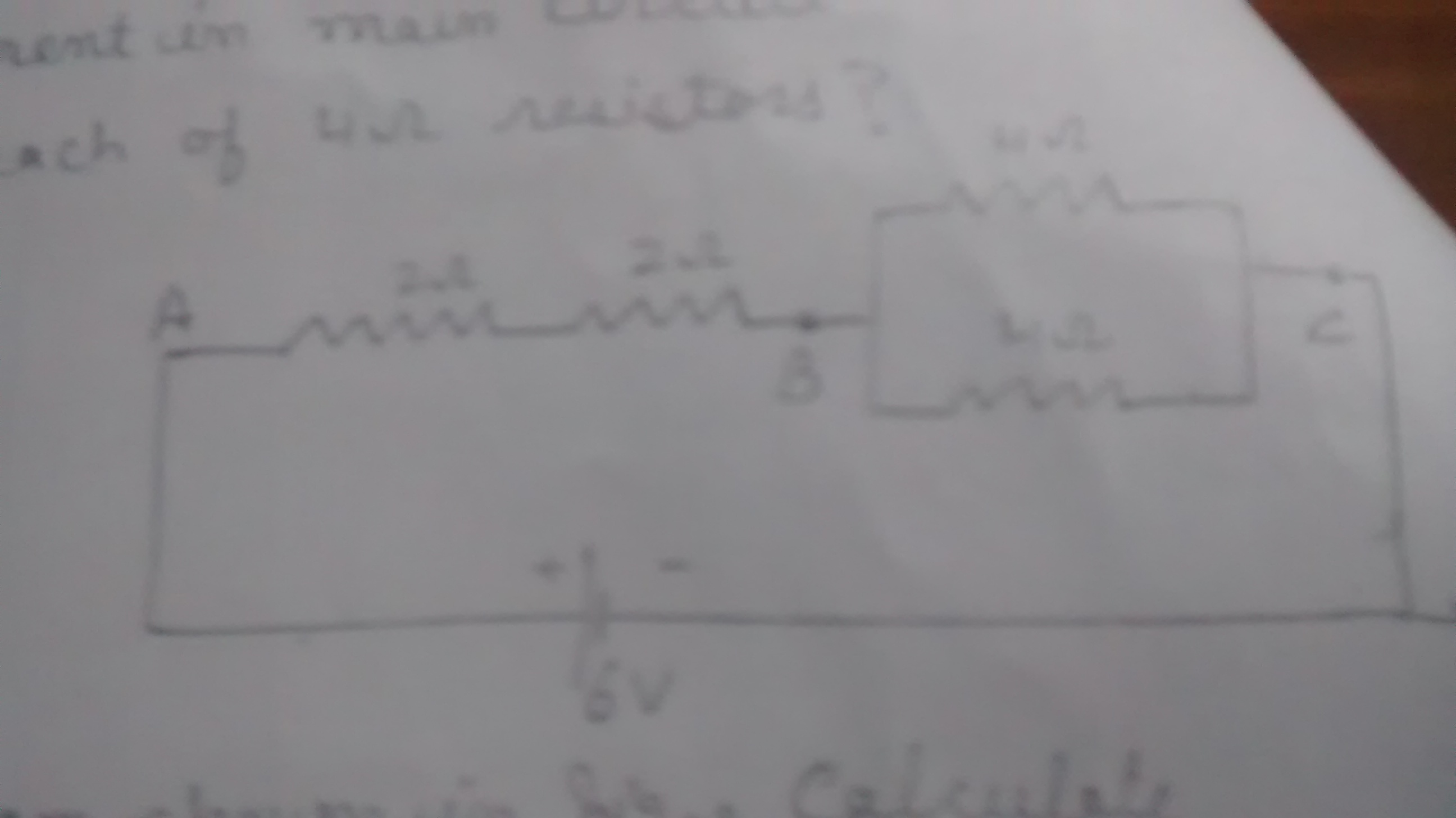 a circuit containing 4 resistors of resistance 2 2 4 4 ohms and a ...