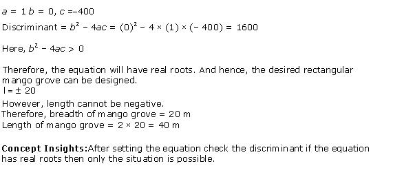 Ncert Solutions Cbse Class 10 Mathematics Chapter - Quadratic Equations