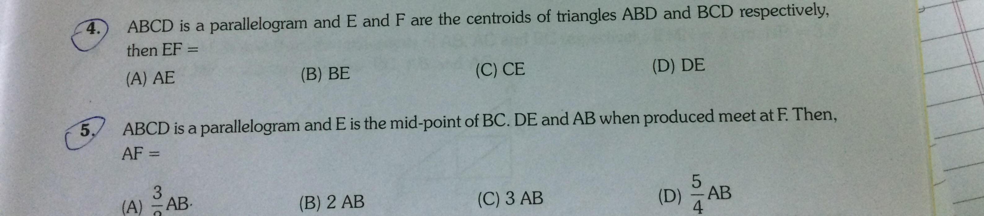 The bisector of angle b and angle c of s quadrilateral abcd please solve question no 4 with proper explanation ccuart Gallery